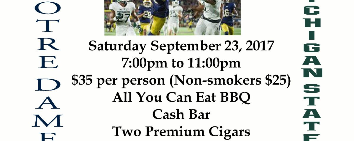 2017 Cigar Night Flyer
